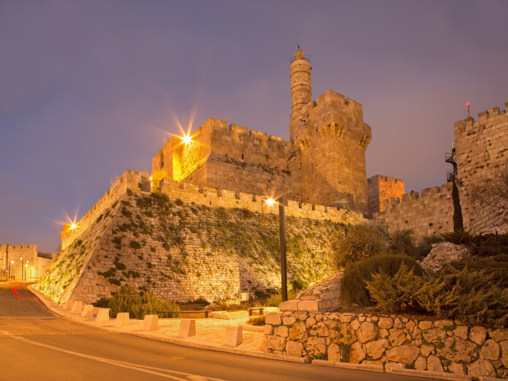 Jerusalem - The tower of David at dusk